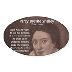 Writer Percy Bysshe Shelley Oval Sticker