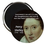 "Romantic Writer: Percy Shelley 2.25"" Magnet (100 p"