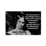 Mary Shelley Frankenstein Rectangle Magnet (10 pac