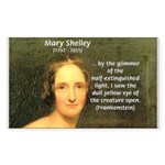 Writer Mary Shelley Rectangle Sticker