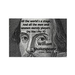 Playwright William Shakespeare Rectangle Magnet (1