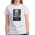 Playwright William Shakespeare Women's T-Shirt