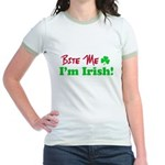 Bite Me I'm Irish Jr. Ringer T-Shirt