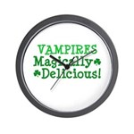 Vampires Magically Delicious Wall Clock