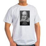 William Shakespeare Ash Grey T-Shirt
