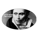 Schopenhauer Philosophy Truth Oval Sticker