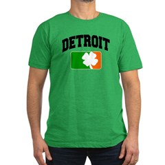 Detroit Shamrock Men's Fitted T-Shirt (dark)