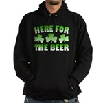 Here for the Beer Shamrock Hoodie (dark)
