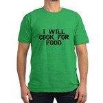 Will Cook For Food Men's Fitted T-Shirt (dark)