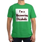 Recovering Orcaholic Men's Fitted T-Shirt (dark)