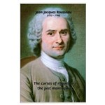 French Philosopher Rousseau Large Poster