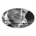 Philosophy Karl Popper Oval Sticker