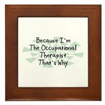 Because Occupational Therapist Framed Tile
