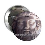 "Plato: Wisdom Knowledge Play 2.25"" Button (10 pack"