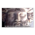 Plato: Humour Beer Wisdom Rectangle Sticker