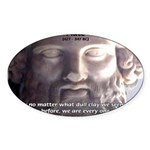Dialogues of Plato Poet in Love Oval Sticker