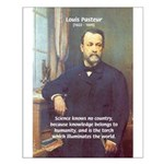 Louis Pasteur: Science Humanity Small Poster