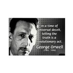 Novelist George Orwell Rectangle Magnet