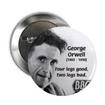 "Modern Fable Writer Orwell 2.25"" Button (100 pack)"
