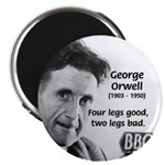 "Modern Fable Writer Orwell 2.25"" Magnet (100 pack)"
