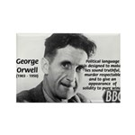 Politics / Language: Orwell Rectangle Magnet (10 p