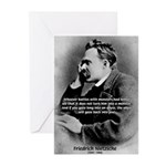 Christian Morality / Nietzsche Greeting Cards (Pac