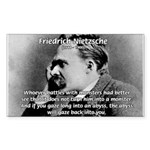 Christian Morality / Nietzsche Sticker (Rectangula