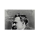 Vanity God and Nietzsche Rectangle Magnet (100 pac