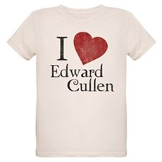 I Love Edward Cullen Organic Kids T-Shirt