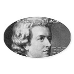 Music, Genius and Mozart Oval Sticker