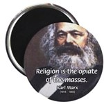 "Karl Marx Religion Opiate Masses 2.25"" Magnet (100"