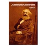 Power of Change Karl Marx Large Poster