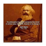 Power of Change Karl Marx Tile Coaster