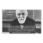 Nobel Prize Physics Lorentz Rectangle Sticker