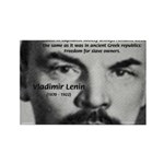 Capitalism and Lenin Rectangle Magnet (10 pack)