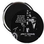 "Famous Quote from JFK 2.25"" Magnet (10 pack)"