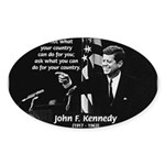 Famous Quote from JFK Oval Sticker