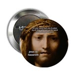 Jesus Peace and Love Button