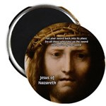 Jesus Peace and Love Magnet