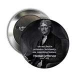 "President Thomas Jefferson 2.25"" Button (100 pack)"