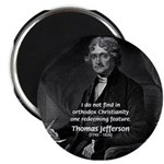 "President Thomas Jefferson 2.25"" Magnet (100 pack)"