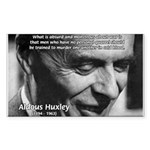 Humanist Aldous Huxley Rectangle Sticker
