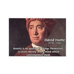 David Hume on Beauty Rectangle Magnet (100 pack)