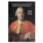 Christianity and David Hume Large Poster