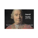 Christianity and David Hume Rectangle Magnet (10 p