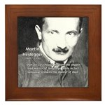 Man / Language: Heidegger Framed Tile