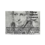 History Lessons Georg Hegel Rectangle Magnet