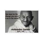 Loyalty to Cause: Gandhi Rectangle Magnet (100 pac