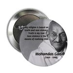 Gandhi Religion Non-violence Button