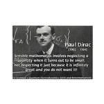 Paul Dirac Quantum Theory Rectangle Magnet (100 pa